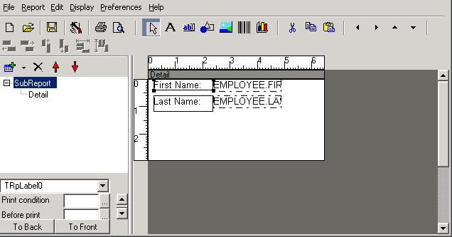 Printing labels (horizontal movement)