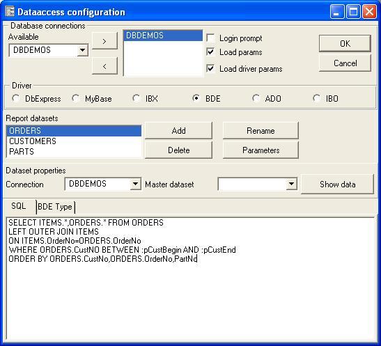 Using report parameters